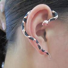 Women Men Punk Gothic Multicolor Snake Ear Stud Cuff Earrings Jewelry