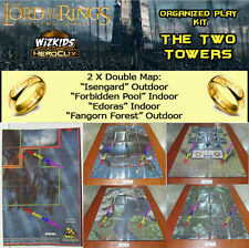 "TLOTR HEROCLIX THE TWO TOWERS OP KIT: 2 X Mapa/Map ""Isengard"" / ""Edoras"""
