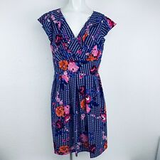 0edbf85d50996 CHRIS McLaughlin Royal Blue Multi Floral Dress. Size 14. NWT.