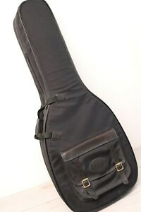 Levy's Leathers CM20L Leather Canvas Gig Bag Guitar Case Gig w/ Saddle Bag