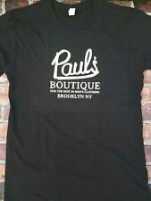 Beastie Boys Gold Foil Red Black New York Paul's Boutique Rap T-shirt  XS-4XL