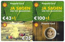 Geschenkkarte Shell Prepaid Card CO2 Ausgleichen Hase Tasse Kaffee 4 Stück