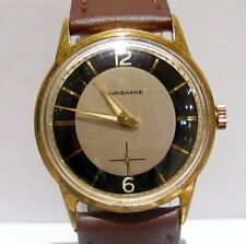 """VINTAGE CLASSIC GERMANY GOLD PLATED MEN'S MECHANICAL WATCH""""JUNGHANS""""Cal 93 # 685"""