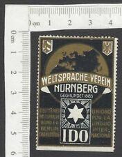 IDO World Language Association Meeting, Nurnberg vintage poster stamp