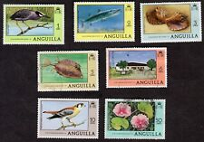 Anguilla: 1977 definitve part set; fine used / mint; birds