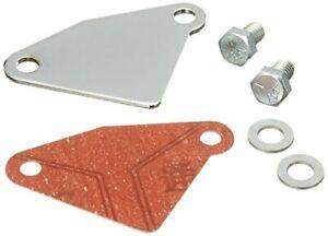 Chrome EGR Valve Block Off Plate Small Block Chevy 305 350 Intake Manifold 7631