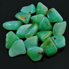 CHRYSOPRASE -1 Tumbled Polished Stone 8 - 11 grams each w/ Healing Property Card