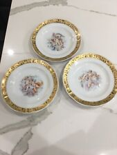 DAL 1969 DEPOS DECORAZIONI  ESCLUSIVE T.LIMOGES MADE IN ITALY PLATES.