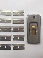 1 X USA scraper/window scraper GENUINE USA + 10 X single edge razor blades USA