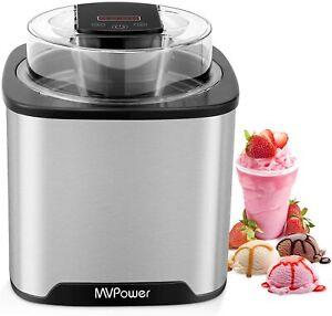 Eismaschine 2 L Profi Kompressor eißmaschine Eis Eiscrememaschine Eiscreme-Maker