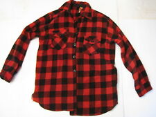 VINTAGE WOOL PLAID HUNTING SHIRT RED AND BLACK FROST PROOF