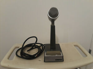 VINTAGE SHURE UNIDIRECITIONAL DYNAMIC MIC MODEL 522 TELISCOPIC KNECK UNTESTED