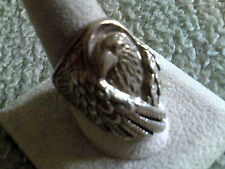 Cast Sterling Silver Eagle Head Ring (last one) # 11