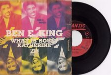 """BEN E. KING WHAT IS SOUL / KATHERINE RARE SOUL 1967 RECORD ITALY 7"""" PS SINGLE"""