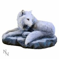 Nemesis Now Guardian of The North Lisa Parker Figurine 26cm Wolf Wolves B2003F6
