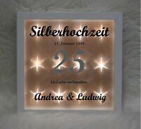Beleuchteter Bilderrahmen - Silberhochzeit - In Liebe verbunden (52) - Hochzeit