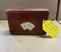 1940's 1950's 2 Deck Leather Card Case