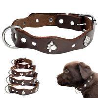 Hundehalsband mit Pfote Nieten Welpen Lederhalsband für Kleine Hund Chihuahua