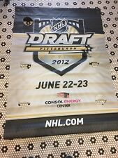 JUNE 22-23 2012 NHL DRAFT PITTSBURGH PENGUINS 46X67 2 SIDED BANNER NHL CONSOL