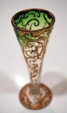 VASE Ludwig MOSER Karlsbad vase cornet émaillé dégradé vert 1880 enameled glass