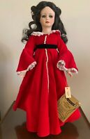 "Seymour Mann Porcelain Doll Scarlett O'Hara ""Gone With The Wind"" Red Dress Gown"