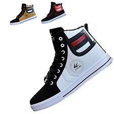 Uomo Scarpe Alte Lacci Up Ginnastica Sneakers Pelle Sintetica Sport Casual