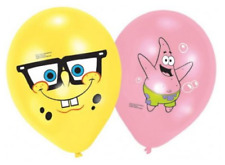 6 x Boys Girls Birthday Party Spongebob Themed Latex Balloons Decorations