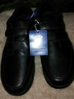 Dr Scholls Men's MICHAEL 7,8.5,14  Extra Wide Leather  GEL CUSHION SHOES, BLK.