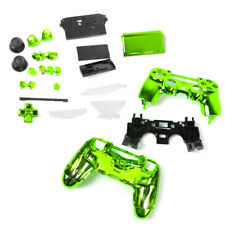 Metal Plated Housing Shell Case Button Parts for Sony PS4 Controller Green