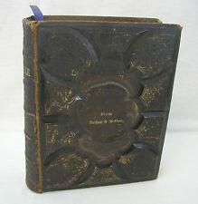 1875 Holy Bible Old & New Testament Harding Ed. Apocrypha Concordance & Psalms