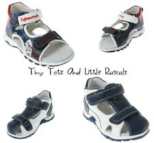 Boys Toddlers Summer Strappy Sandals Covered Toes Leather Insole Sizes 3 - 7