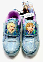 Disney frozen 2 anna elsa Kids Light Up Trainers Athletic  Shoes Sneakers Sz 12