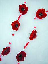Deko Mohn Mohnblüten Girlande Mohngirlande Dekoration Tischdeko Kunstblumen Neu