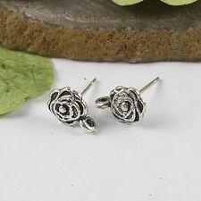 20Pcs 14mm Tibetan silver Earring Post h0298