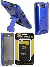 OEM Body Glove Vibe Case Cover W/ Hideaway Stand For LG Lucid VS840 Verizon Blue