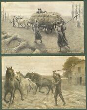 Festa del Pane. Due cartoline viaggiate nel 1907. Ottima conservazione.