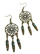 Dream Catcher Earrings Feathers Hook Drop Dangle Earrings Bohemian Ethnic