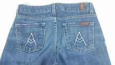 7 Seven For All Mankind A Pocket Flare Medium Wash Blue Jeans Denim 29x29