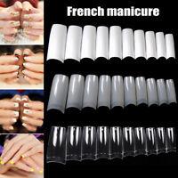 100/500pcs Nails Half French False Nail Art Tips Acrylic UV Gel Manicure Tip
