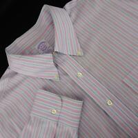 Brooks Brothers Classic 1818 Mens Polo Dress Shirt Size 18-38 2XLT XXL Tall Pima