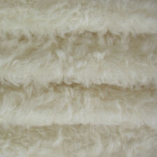 "1/4 yd 785S/C White INTERCAL 3/4"" Med. Dense Curly German Mohair Fur Fabric"