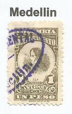 "COLOMBIA-ANTIOQUIA. 1903. 1 Peso. SG: 166. Used ""Medellin"" Departmental Cancel."