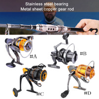 Metal Left/Right Interchangeable Spinning Fishing Reel Wheel High Speed Durable