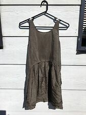 Witchery brown silk dress is size XS