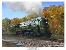 """Chicago & North Western Class E4"" Mark Karvon 30"" Railroad Print - 4-6-4 Hudson"