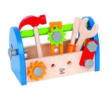 NEU: Original Hape Kinder Werkzeugkasten Holz 17 Teile Zubehör Schrauben Hammer