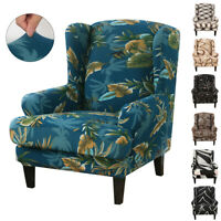 New Printed Armchair Wingback Slipcover Chair Cover Stretch Protector Home Decor