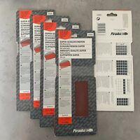 25 Piranha X31016 93mm x 280mm 1/2 Clip Per Super Fogli Abrasivi 150G