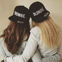 Blondie Brownie Snapback Pair Fashion Embroidered Snapback Caps Hip-Hop Hats