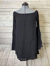 Altar'd State Black Bell Sleeve Off Shoulder Mini Dress Boho Chic S NWT